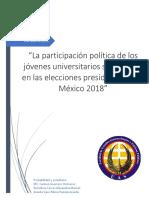 Participación de Los Jovenes de Sinaloa en Elecciones