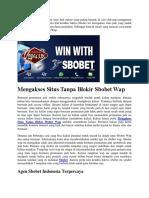 Mengakses Situs Tanpa Blokir Sbobet Wap