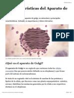 10 Características del Aparato de Golgi