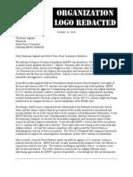 2011 MRFF Nobel Peace Prize Nomination Letter