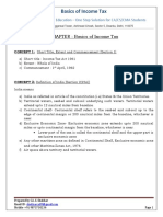 Basics of Income Tax Notes for CA CSCMA Students