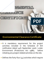 Environmental Clearance Certificate 1