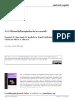 N (2 Chloroethyl)Morpholine 4 Carboxamide