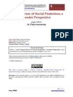 Rapid Review of Social Protection; A Gender Perspective