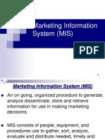 3.Marketing Information System (MIS)