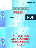 PRODUCCION AGUA POTABLE PLANTA