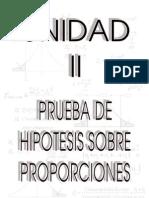 Unidad II_Prueba de Hipótesis sobre Proporciones