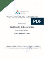 Oxe e 3000 w It 002 2 Codificacion Documentos