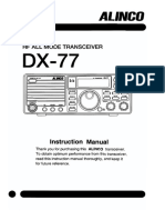 Manual Book HF Transceiver Alinco DX-77E