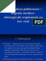 Tuberculoza Pulmonara - Urgente Medico-Chirurgicale Respiratorii cu Risc Vital.ppt