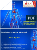 Guidelines of Arterial Duplex Scan