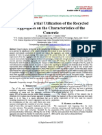 Impact of Partial Utilization of the Recycled Aggregates on the Characteristics of the Concrete