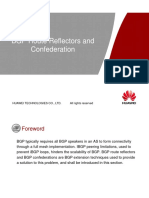 BGP Route Reflection and Confederation