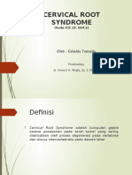 Cervical Root Syndrome