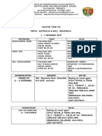 Statement & Itinerary Perth