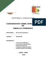 Monografía de Niko Tinbergen