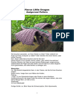 Fierce Little Dragon Amigurumi Pattern - German