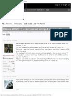 Bravia 40S2010 - Can You Set an Input as Default AVForums