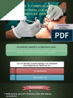 Riesgos y Complicaciones de Anestesia Local