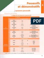 Extrait l'Exercisier Les Adjectifs Possessifs Et Demonstratifs
