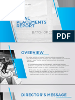 Final Placement Report IIFT 2018