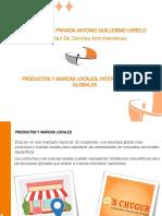 Productos y Marcas Locales Internacionales y Globales