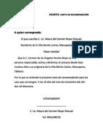 Carta de Recomendacion Jg