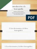 Tema 1 Introducción a La Lexicografía