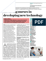Involving Nurses in Developing New Technology 271113