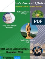 November 2018 1st Week Current Affairs Update