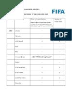 FiFA Schedule 2018-2024
