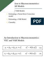 VEC VAR Models