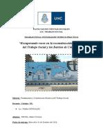 Fundamentos y Constitución Histórica del TS - Trabajo Integrador Final, prácticas universitarias en Barrio Alberdi