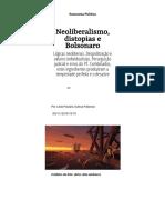 Neoliberalismo, Distopias e Bolsonaro - Carta Maior