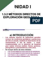 1.3.2 Métodos Directos de Exploración Geológica