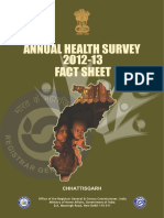 Annual Helath Survey 2012-13