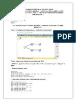 Informe Configuración de Una Red Pequeña Packet Tracer