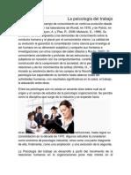 Psicología del trabajo modulo I