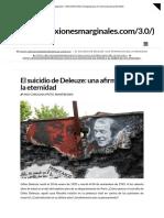 Deleuze, G. (1925-1995) - El suicidio de Deleuze