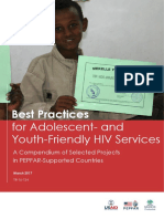 Best practices for adolscent and youth friendly hiv services