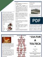 Triptico Cultura Tolteca