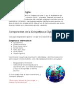 Componentes de La Competencia Digital