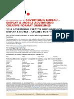 IAB Display Mobile CreativeGuidelines