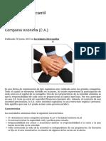 Compañía Anónima (C.A.) | Legislación Mercantil