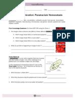 Gizmo Handout Paramecium Homeostasis