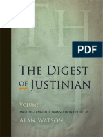 Digest of Justinian, Volume 1 (D.1-15)