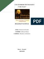 Historia Del Ecuador Resumen