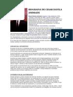 Biografia de Cesar Davila Andrade