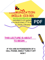Communication Skills Handout