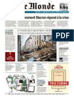 Journal LE MONDE Et Suppl Du Mercredi 7 Novembre 2018